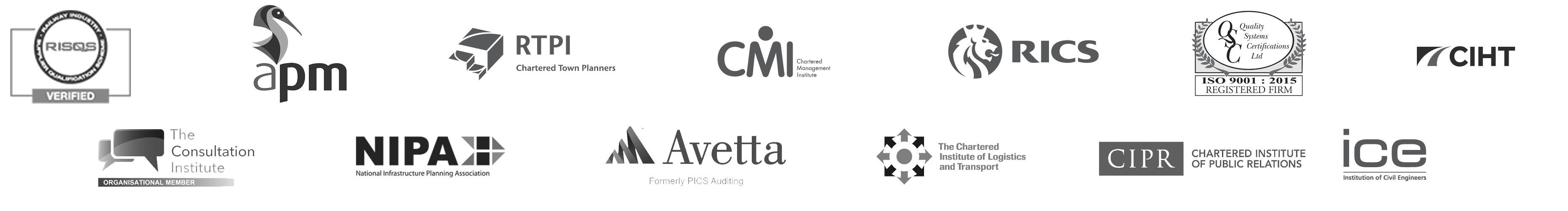 CJ Associates Trade Association Logos Footer Image